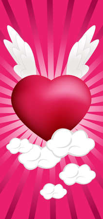 Heart on the Clouds Vector