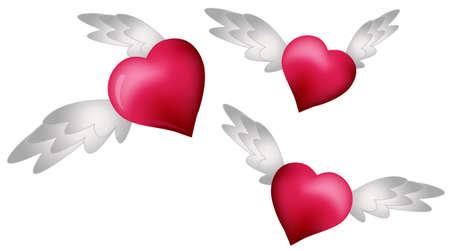 corazon con alas: Volando de corazones