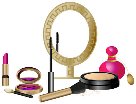 Cosmetics Set isolated on white background Vector