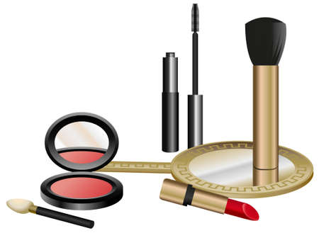 Cosmetics Set isolated on white background Stock Vector - 9055798