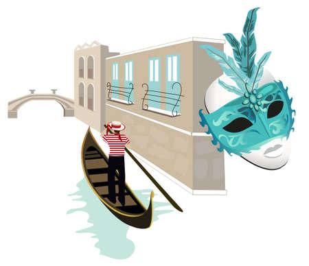 Symbols of Venice Vector