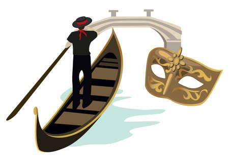gondolier: Symbols of Venice