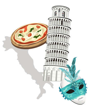 Symbols of Italy Stock Vector - 9426693