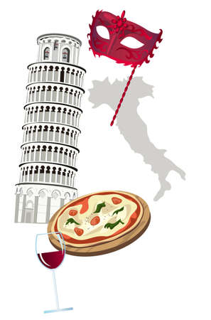 pizza place: Symbols of Italy