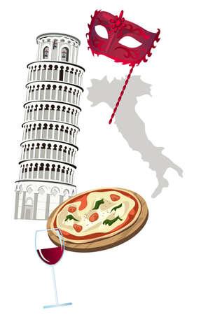 Symbols of Italy Stock Vector - 9426690