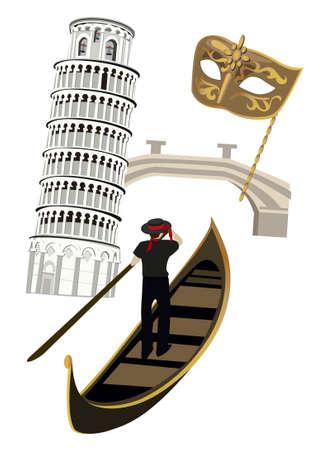 Symbols of Italy Vector