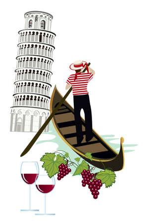 Symbols of Italy Stock Vector - 9426688