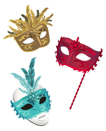 white mask: Carnival Masks