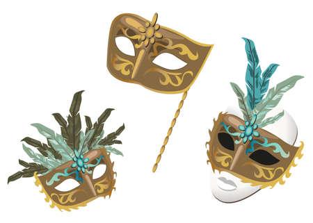 mascaras de carnaval: M�scaras de Carnaval Vectores
