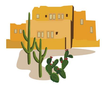 Mexican Village Stock Vector - 10281405