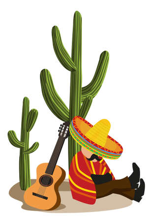 Mexican Napping Vector