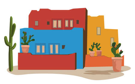 Mexican Village Vector