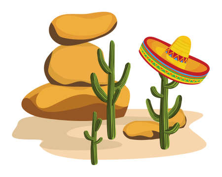 Sombrero on Cactus Stock Vector - 10281172