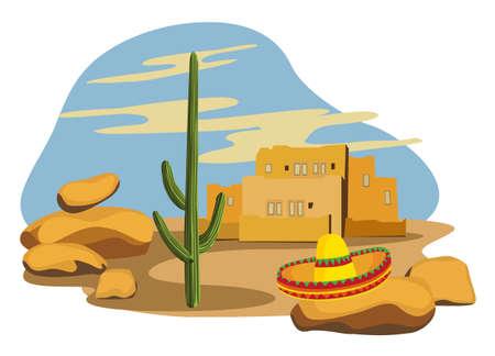Mexican Village Stock Vector - 10281183