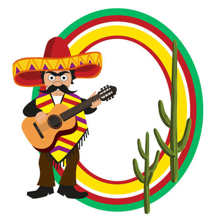 mariachi: Frame with a Mexican