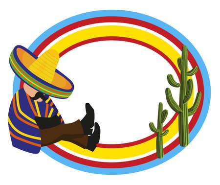 mexican sombrero: Telaio con un messicano