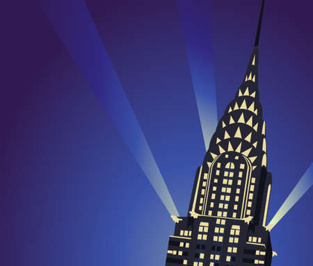 Background illustration with Chrysler Building