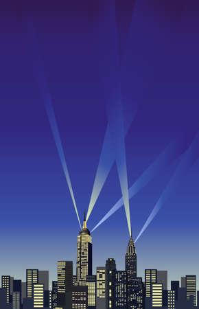 imperium: Achtergrond illustratie met skyline van New York