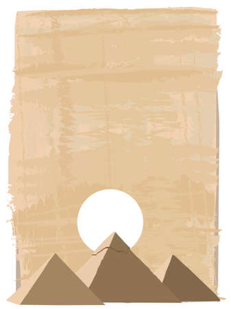 papyrus: Papyrus background with the Pyramids of Giza