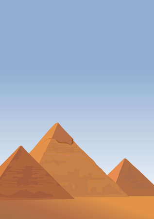Background illustration with the Pyramids of Giza