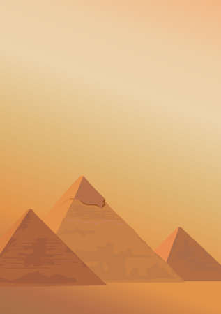 Background illustration with the Pyramids of Giza Vector