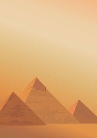 pyramide egypte: Illustration de fond avec les pyramides de Gizeh