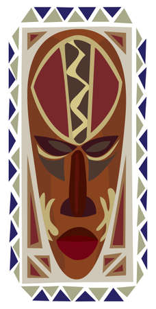 Decorative African mask illustration isolated on white Vector