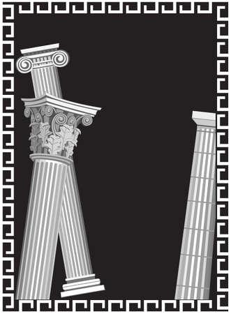 anatolian: Background illustration with antique Greek columns