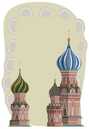 Frame illustration with Kremlin towers, isolated on white Stock Vector - 15247943