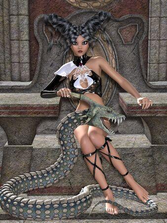 beauty queen: Queen of snakes