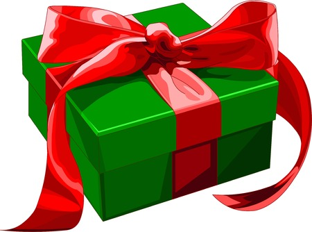 Confezione regalo con prua rosso. Vector illustration Archivio Fotografico - 3838406
