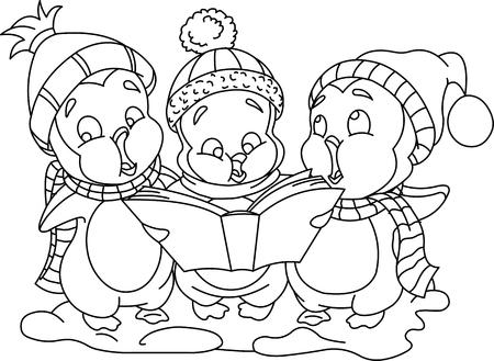 lullaby: Navidad carols_bw Vectores
