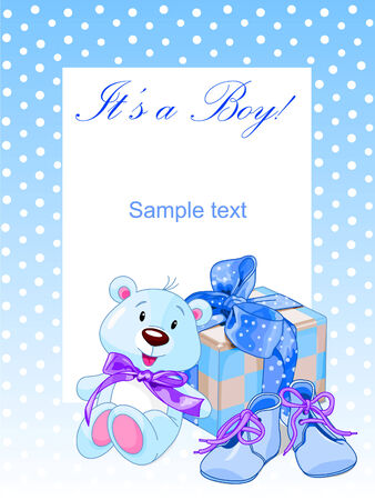 Its a boy! - Baby boy shower Illustration