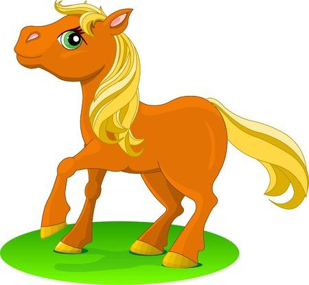 Red Horse. Vector illustration Vector
