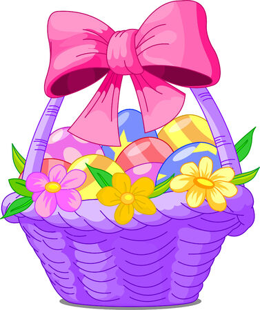美しいイースターのバスケットの卵