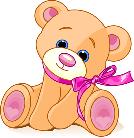 painterly: A rough, painterly childs teddy bear
