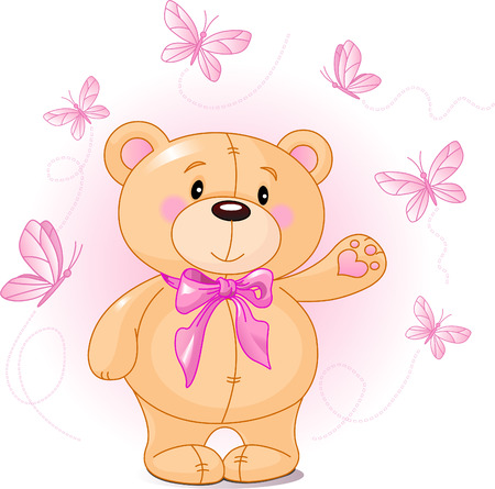 teddy: Very cute Teddyb�r Verzicht auf Hallo  Illustration