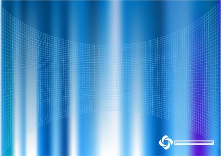 an overlay: Una luz llena de fondo abstracto azul con una superposici�n de rejilla fina