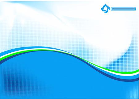 an overlay: Un resumen de antecedentes llena de luz azul con una superposici�n de una rejilla fina Vectores