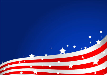 An American flag background Vector