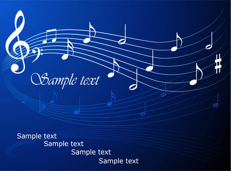 Music theme vector background Vector