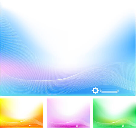 Four Abstract hi tech backgrounds in different colores Vector