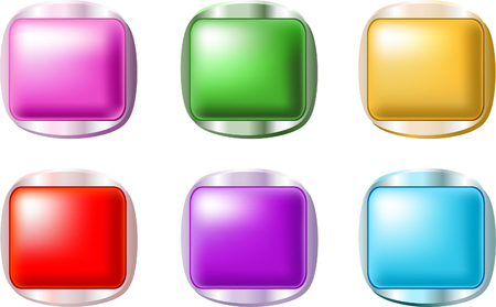 Set of smooth shiny buttons