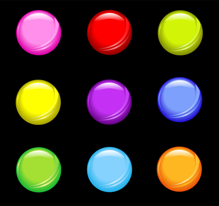 A set of  simple shiny buttons.
