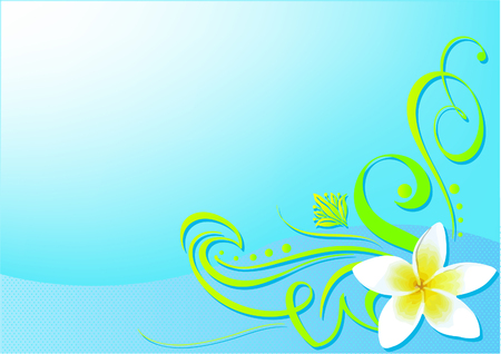 Beautiful vector illustrated floral background Иллюстрация