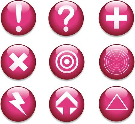 A set of  simple shiny buttons. Banco de Imagens - 5194871