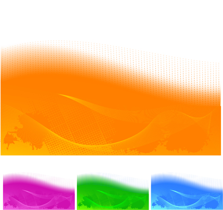 Four Abstract hi tech backgrounds in different colors Vector