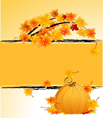 Autumn background with copy space for the text  Vector