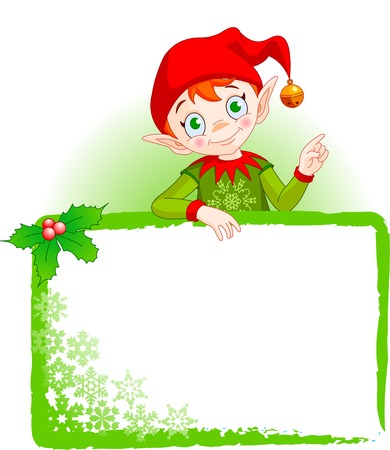 elves: Christmas Elf Invite & Place Card Illustration