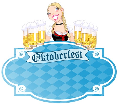 Invitation car¬d to the Oktoberfest  Vector
